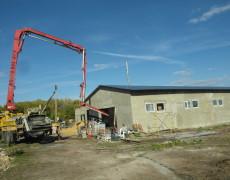 Подача бетона