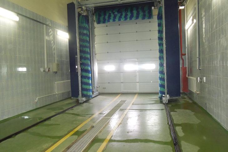 Полимерный пол для автомойки 5