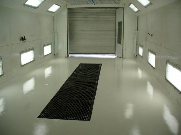 Полимерный пол для автомойки