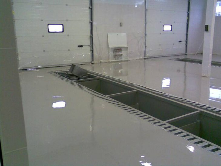 Наливные полы для автомоек 2
